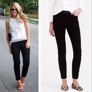 j. crew // faux leather dannie skinny pants black